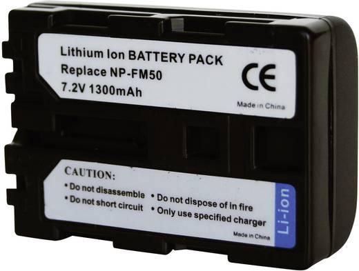Conrad energy Camera-accu Vervangt originele accu NP-FM30, NP-FM50, NP-FM51, NP-QM50, NP-QM51 7.2 V 1300 mAh