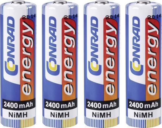 AA oplaadbare batterij (penlite) NiMH Conrad energy HR06 2400 mAh 1.2 V 4 stuks