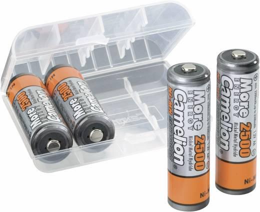 AA oplaadbare batterij (penlite) NiMH Camelion HR06 met box 2500 mAh 1.2 V 4 stuks