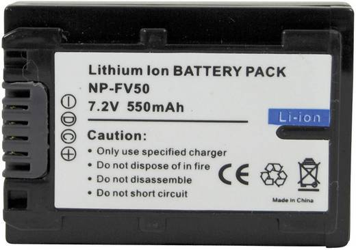 Conrad energy Camera-accu Vervangt originele accu NP-FV50 7.2 V 550 mAh