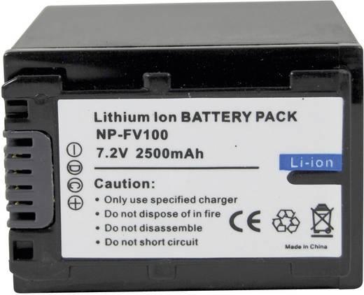 Conrad energy Camera-accu Vervangt originele accu NP-FV100 7.4 V 2200 mAh
