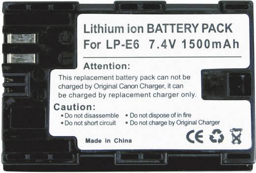 Conrad energy Camera-accu Vervangt originele accu LP-E6 7.4 V 1300 mAh