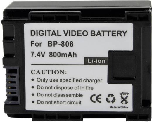 Conrad energy Camera-accu Vervangt originele accu BP-808 7.4 V 700 mAh