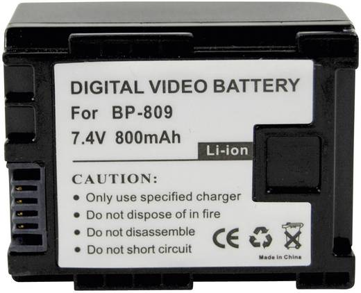 Conrad energy Camera-accu Vervangt originele accu BP-809 7.4 V 700 mAh
