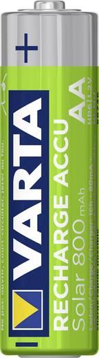 AA oplaadbare batterij (penlite) NiMH Varta Longlife Solar HR06 800 mAh 1.2 V 2 stuks