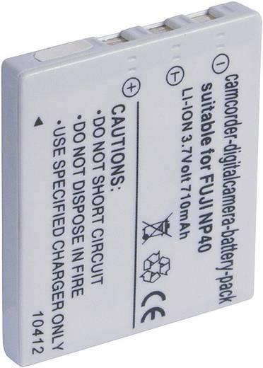 Conrad energy Camera-accu Vervangt originele accu NP-40, D-L18, SLB-0737, SLB-0837 3.7 V 600 mAh