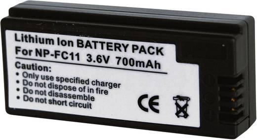 Conrad energy Camera-accu Vervangt originele accu NP-FC10, NP-FC11 3.6 V 700 mAh