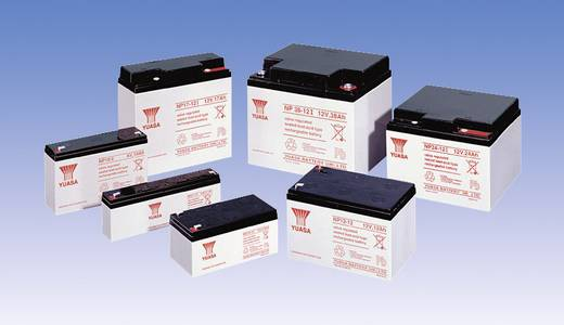Yuasa NP12-6 Loodaccu 6 V 12 Ah NP12-6 Loodvlies (AGM) (b x h x d) 151 x 98 x 50 mm Kabelschoen 6.35 mm Onderhoudsvrij, VDS-certificering