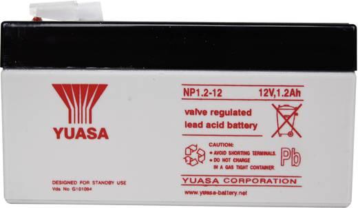 Yuasa NP1.2-12 Loodaccu 12 V 1.2 Ah NP1.2-12 Loodvlies (AGM) (b x h x d) 97 x 55 x 48 mm Kabelschoen 4.8 mm Onderhoudsvr