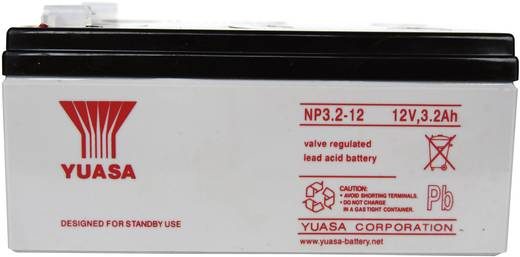 Yuasa YUANP3.2/12RP Loodaccu 12 V 3.2 Ah NP3.2-12 Loodvlies (AGM) (b x h x d) 134 x 64 x 67 mm Kabelschoen 4.8 mm Onderh