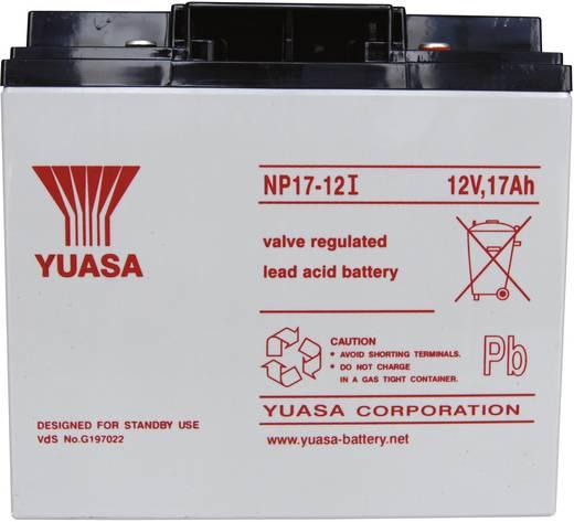 Yuasa NP17-12 Loodaccu 12 V 17 Ah NP17-12 Loodvlies (AGM) (b x h x d) 181 x 167 x 76 mm M5-schroefaansluiting Onderhouds