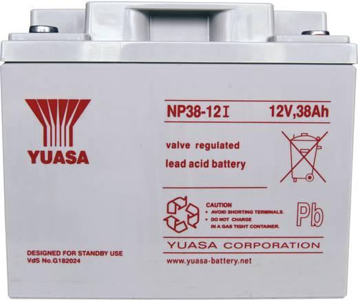 Yuasa NP38-12 Loodaccu 12 V 38 Ah NP38-12 Loodvlies (AGM) (b x h x d) 197 x 170 x 165 mm M5-schroefaansluiting Onderhoudsvrij, VDS-certificering