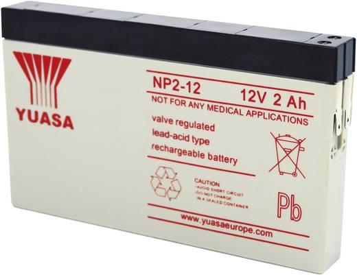 Yuasa NP2-12 Loodaccu 12 V 2 Ah NP2-12 Loodvlies (AGM) (b x h x d) 150 x 89 x 20 mm Kabelschoen 4.8 mm Onderhoudsvrij