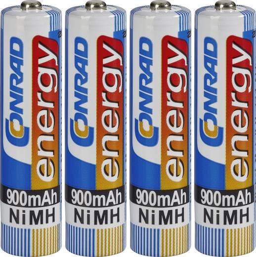 Conrad energy HR03 AAA oplaadbare batterij (potlood) NiMH 900 mAh 1.2 V 4 stuks