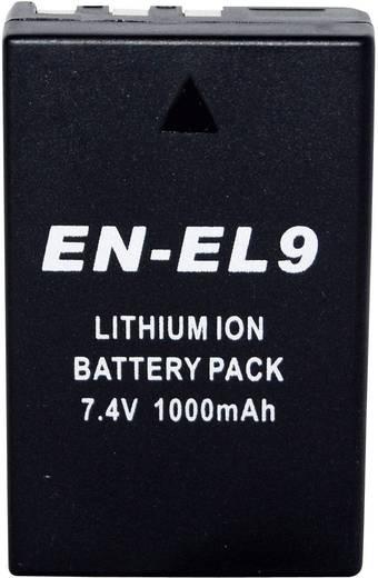 Conrad energy Camera-accu Vervangt originele accu EN-EL9 7.4 V 900 mAh