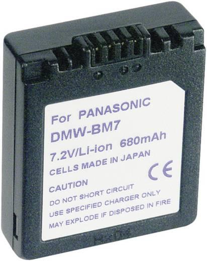 Conrad energy Camera-accu Vervangt originele accu CGA-S002, DMW-BM7 7.2 V 600 mAh