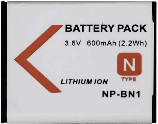 Conrad energy Camera-accu Vervangt originele accu NP-BN1 3.6 V 500 mAh