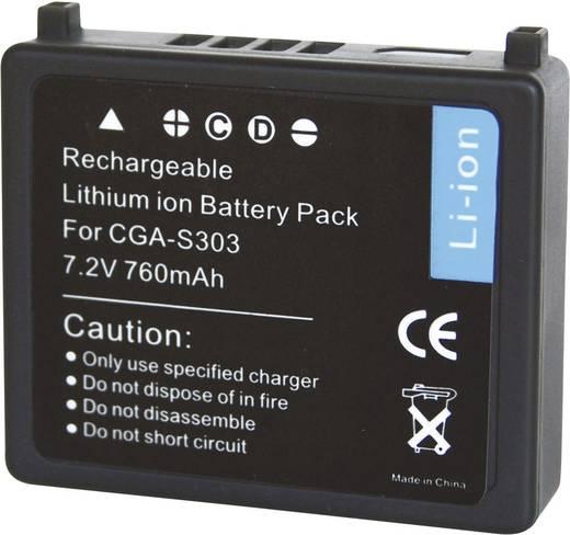 Conrad energy Camera-accu Vervangt originele accu CGA-S303, VW-VBE10 7.2 V 700 mAh