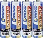 Conrad energy NiMH penlite-batterijen 2700 mAh, set van 4