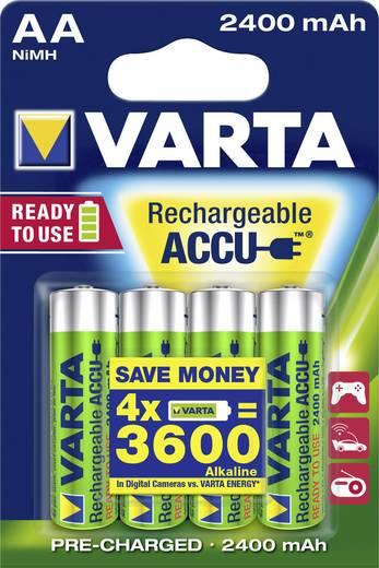 AA oplaadbare batterij (penlite) NiMH Varta Ready2Use HR06 2400 mAh 1.2 V 4 stuks