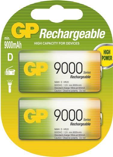 D oplaadbare batterij (mono) GP Batteries HR20 NiMH 1.2 V 9000 mAh 2 stuks