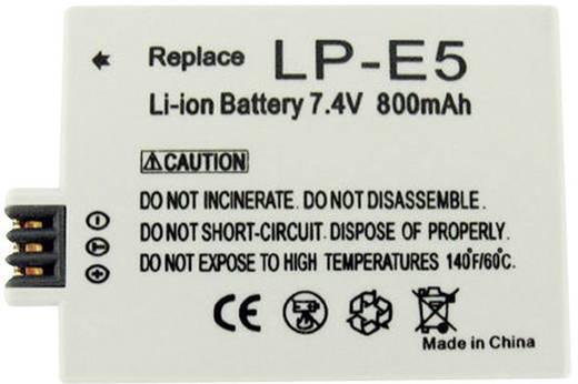 Conrad energy Camera-accu Vervangt originele accu LP-E5 7.4 V 800 mAh