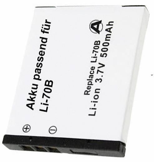 Conrad energy Camera-accu Vervangt originele accu LI-70B 3.7 V 500 mAh