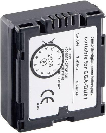 Conrad energy Camera-accu Vervangt originele accu CGA-DU 14E, CGA-DU 1B, CGA-DU 07, CP-861 7.2 V 600 mAh