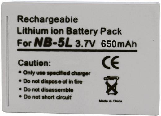 Conrad energy Camera-accu Vervangt originele accu NB-5L 3.7 V 1120 mAh