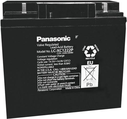 Loodaccu 12 V 22 Ah Panasonic LC-XC1222P Loodvlies (AGM)