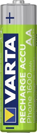 Oplaadbare AA batterij (penlite) NiMH Varta Phone HR06 1600 mAh 1.2 V 2 stuks