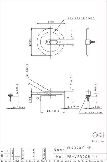 Panasonic VL2320-1HFE Oplaadbare knoopcel VL 2320 Lithium 30 mAh 3 V 1 stuks