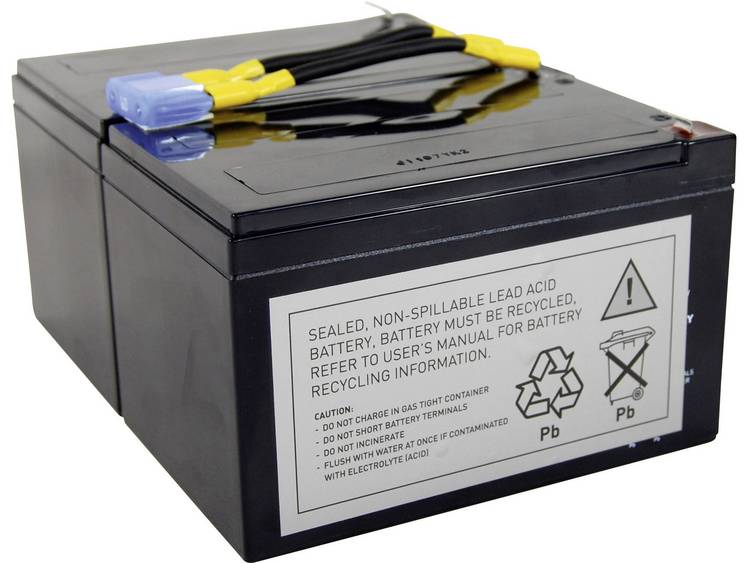 Conrad energy UPS-systeemaccu Vervangt originele accu RBC6 Geschikt voor model APC10IA, BP1000, BP1100, DLA1500J, NECA1000JW, SMC1500, SMC1500I, SMT1000,