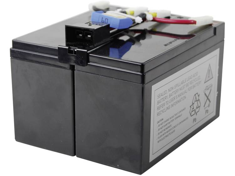 Conrad energy UPS-systeemaccu Vervangt originele accu RBC48 Geschikt voor model DLA750, SIA750ICH-45, SMT750, SMT750I, SMT750ICH, SMT750TW, SMT750US,