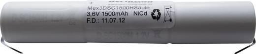 Beltrona 3DSC1500HSCLG Noodverlichtingaccu U-soldeerlip 3.6 V 1500 mAh