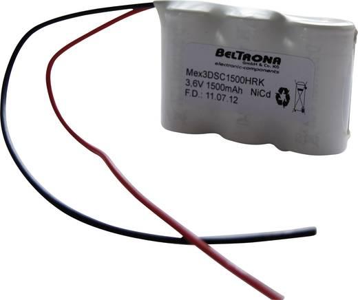 Beltrona 3DSC1500HRK Noodverlichtingaccu Kabel 3.6 V 1500 mAh