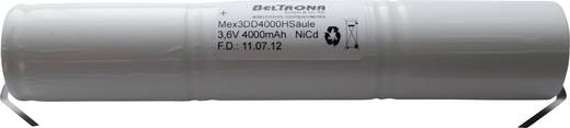 Beltrona 3DD4000HSCLG Noodverlichtingaccu U-soldeerlip 3.6 V 4000 mAh