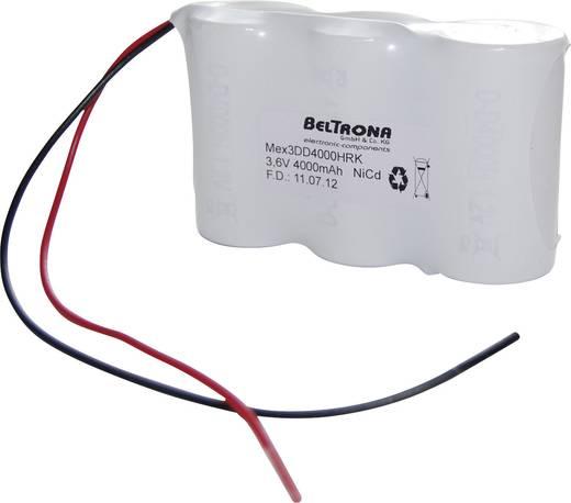 Beltrona 3DD4000HRK Noodverlichtingaccu Kabel 3.6 V 4000 mAh