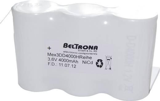 Beltrona 3DD4000HRCLG Noodverlichtingaccu Z-soldeerlip 3.6 V 4000 mAh