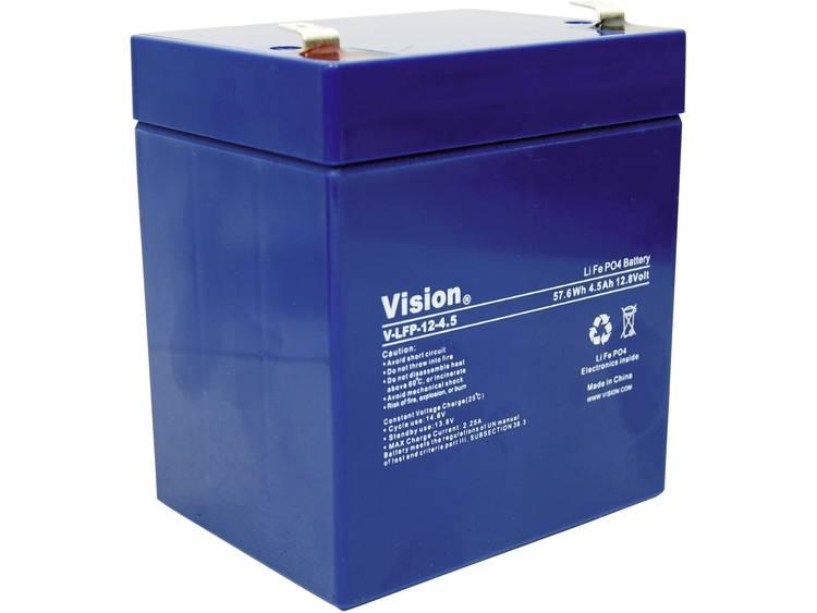 Vision lithium-ijzer-fosfaat-accu 12 V 4,5 Ah (l x b x h) 90 x 70 x 101 mm