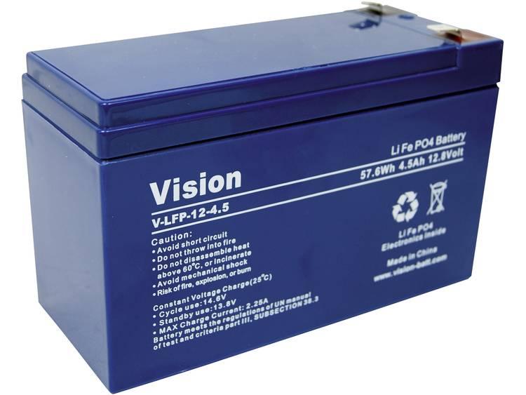 Vision lithium-ijzer-fosfaat-accu 12 V 4,5 Ah (l x b x h) 150 x 65 x 105 mm