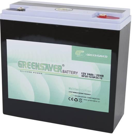 Greensaver SP24-12 Loodaccu 12 V 24 Ah SP24-12, SP20-12 Lood-silicone (l x b x h) 180 x 76 x 170 mm M5-schroefaansluiting Onderhoudsvrij, Cyclusbestendig