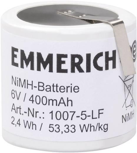NiMH Accupack 6 V 400 mAh Speciale accu Z-soldeerlip Emmerich 1007-5-LF