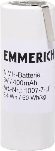 NiMH Accupack 6 V 400 mAh Speciale accu Z-soldeerlip Emmerich 1007-7-LF