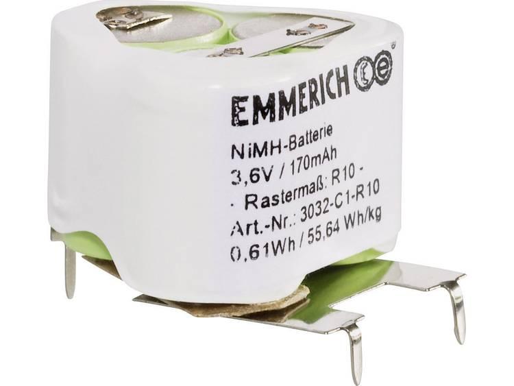 Emmerich 3032-C1-R10 Accupack NiMH 3.6 V 170 mAh Speciaal U-soldeerpinnen
