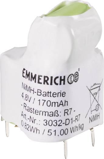 Emmerich 3032-D1-R7 Accupack 4 Speciale accu U-soldeerpinnen NiMH 4.8 V 170 mAh