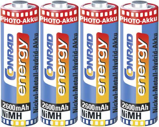 AA oplaadbare batterij (penlite) NiMH Conrad energy Photoakku HR06 2600 mAh 1.2 V 4 stuks
