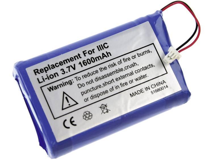 PDA-accu XCell Vervangt originele accu 170-0737, B520003 3.7 V 1600 mAh
