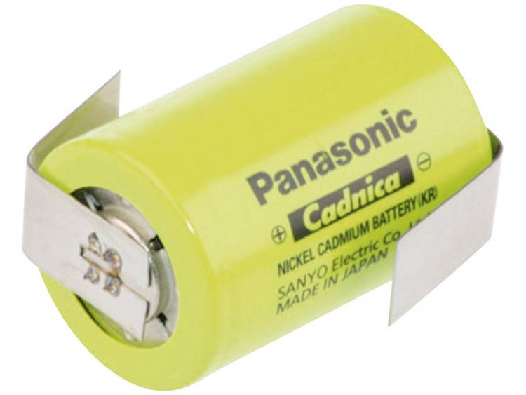Panasonic Sub-C ZLF Speciale oplaadbare batterij 4/5 sub-C Z-soldeerlip NiCd 1.2 V 1200 mAh
