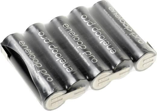 NiMH Accupack 6 V 2450 mAh AA (penlite) Z-soldeerlip Panasonic eneloop Pro Reihe F1x5
